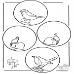 Bricolage coloriages - Mobile animaux
