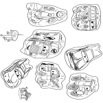 Bricolage coloriages - Mobile Cars 1