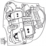Bricolage coloriages - Mobile Cars 2