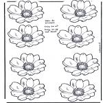 Bricolage coloriages - Mobile de fleurs