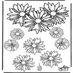 Bricolage coloriages - Mobile Fleurs