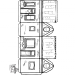 Bricolage coloriages - Modèle de construction ' maison 1