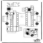 Bricolage coloriages - Modèle de construction - Bus à impériale