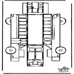 Bricolage coloriages - Modèle de construction - Bus