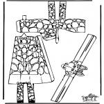 Bricolage coloriages - Modèle de construction - Girafe 1