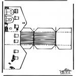 Bricolage coloriages - Modèle de construction - grange