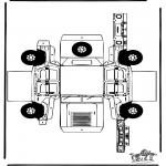Bricolage coloriages - Modèle de construction - Hummer