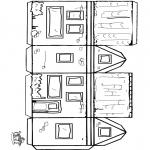 Bricolage coloriages - Modèle de construction maison 2