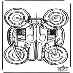 Bricolage coloriages - Modèle de construction - moto