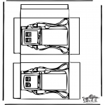 Bricolage coloriages - Modèle de construction - pompe à essence
