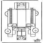 Bricolage coloriages - Modèle de construction - pompiers