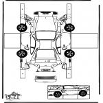 Bricolage coloriages - Modèle de construction - Porsche