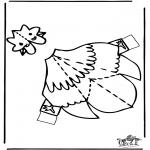 Bricolage coloriages - Modèle de construction - poulet