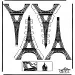 Bricolage coloriages - Modèle de construction - tour eiffel