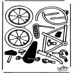 Bricolage coloriages - Modèle de construction - vélo