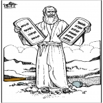 Coloriages Bible - Moïse 4