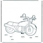 Coloriages faits divers - Moto 1
