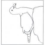 Coloriages d'animaux - Mouette sur une pierre