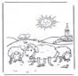Moutons au soleil