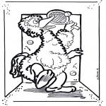 Coloriages pour enfants - Mr Grand Oiseau