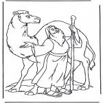 Coloriages Bible - Noé avec chameau