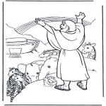 Coloriages Bible - Noé et larc-en-ciel
