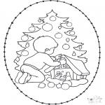 Coloriages Noël - Noël Carte à broder 20