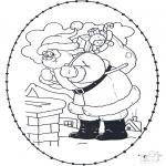 Coloriages Noël - Noël Carte à broder 21