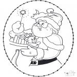 Coloriages Noël - Noël Carte à broder 22