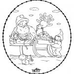 Coloriages Noël - Noël Carte à broder 24