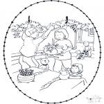 Coloriages Noël - Noël Carte à broder 9