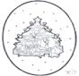 Noël carte de piqûre 1