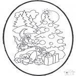 Coloriages Noël - Noël carte de piqûre 12