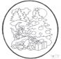 Noël carte de piqûre 12