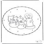 Coloriages Noël - Noël carte de piqûre 16