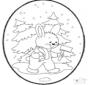 Noël carte de piqûre 18