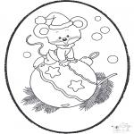 Coloriages Noël - Noël carte de piqûre 19