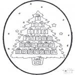 Coloriages Noël - Noël carte de piqûre 20