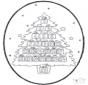 Noël carte de piqûre 20