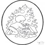 Coloriages Noël - Noël carte de piqûre 22