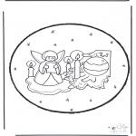 Coloriages Noël - Noël carte de piqûre 23