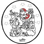 Coloriages Noël - Noël carte de piqûre 24