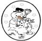 Noël carte de piqûre 25