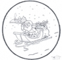 Noël carte de piqûre 4