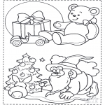 Coloriages Noël - Noël coloriage 1