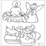 Coloriages Noël - Noël coloriage 2