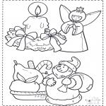 Coloriages Noël - Noël coloriage 2