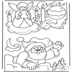 Coloriages Noël - Noël coloriage 3