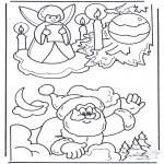 Coloriages Noël - Noël coloriage 3