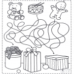 Coloriages Noël - Noël labyrinthe 4